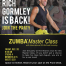 Zumba flyer for The Atlantic Club