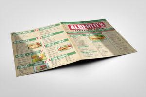 albertos deli mexican restaurant mexican food menu back front cover