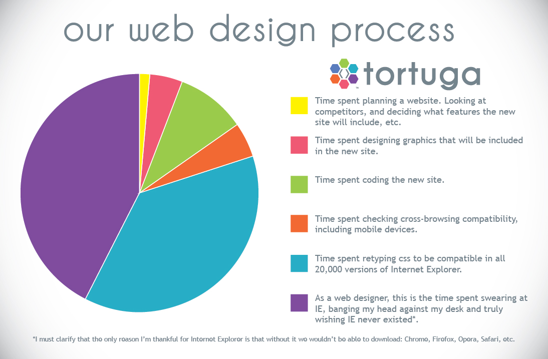 Web Design Pie Chart Tortuga Creative Tortuga Digital Marketing