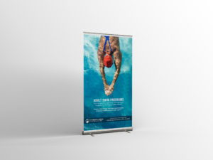 adult swim ad for rollup banner