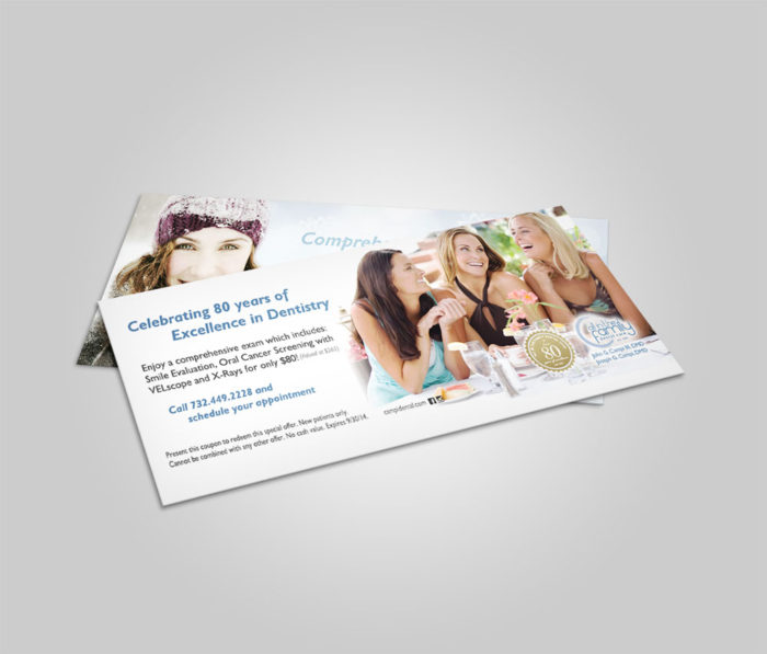 dental voucher coupon mockup