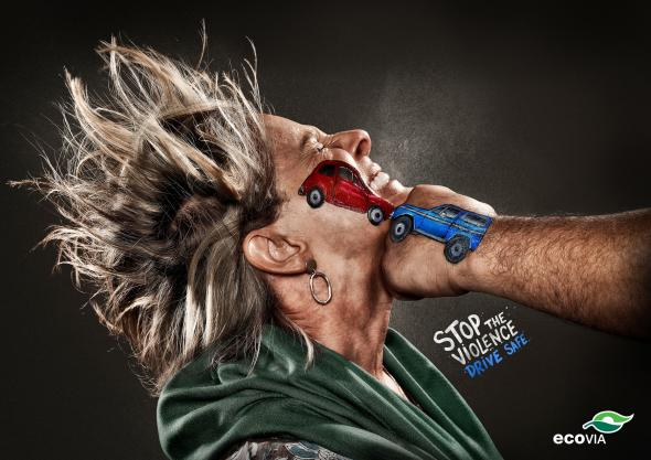 Drive safe ads. Stop the violence. Drive safe.