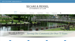 Secare and Hensel law firm website