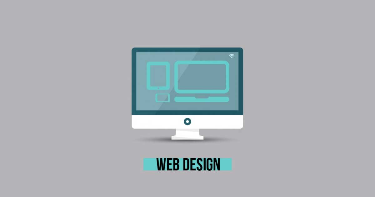 web design monitor gray vector