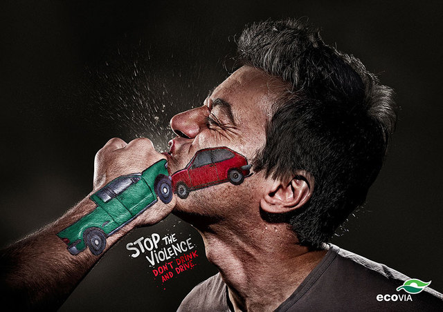 Drive safe ads. Stop the violence. Don't drink and drive.