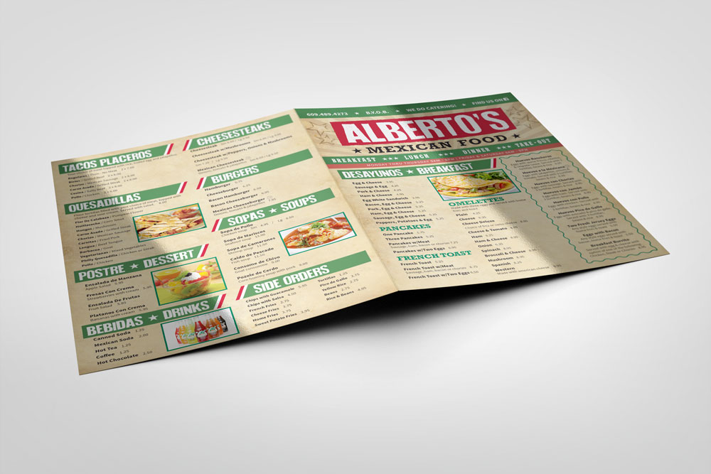 albertos deli mexican restaurant mexican food menu back front cover