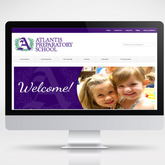 atlantis prep school website mockup