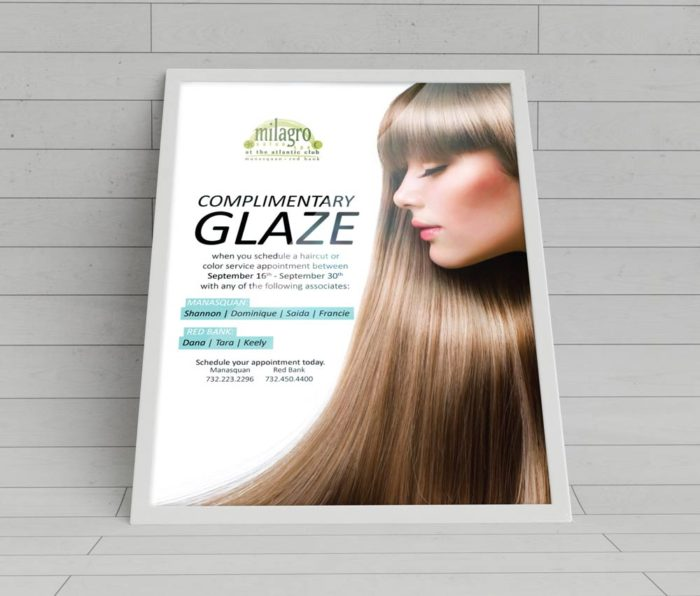 Hair Glaze Ad for Milagro Spa
