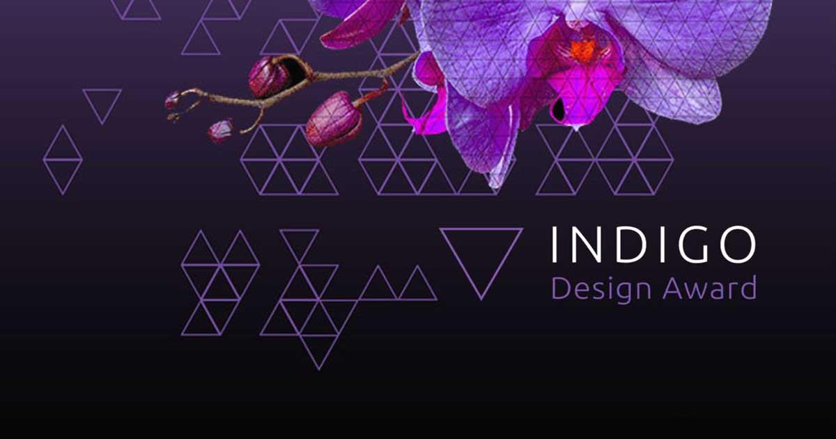 indigo design award purple orchid black background