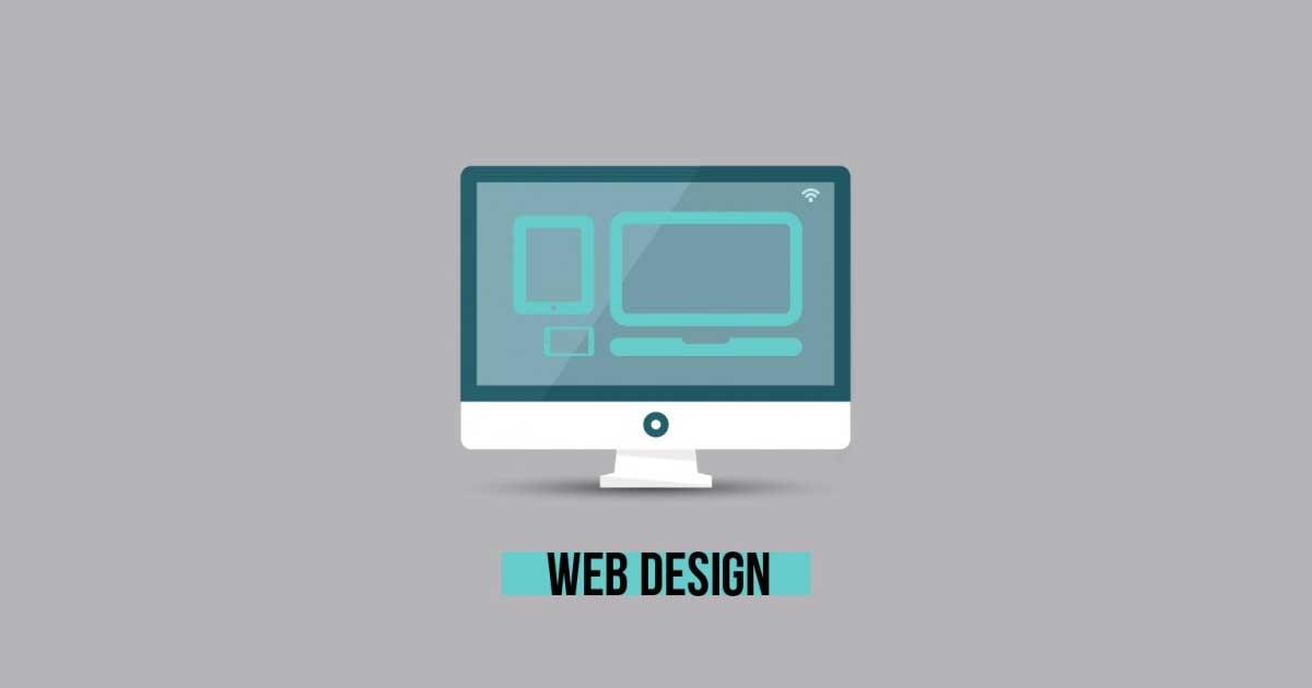 web design monitor gray vector